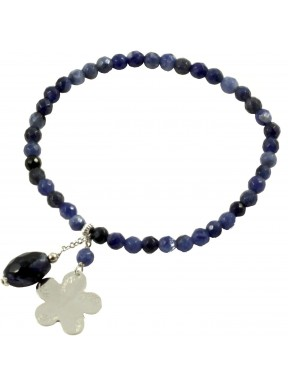Como Lake bracelet sodalite and rhodiated silver