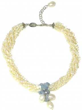 torchon aquamarine and pearls