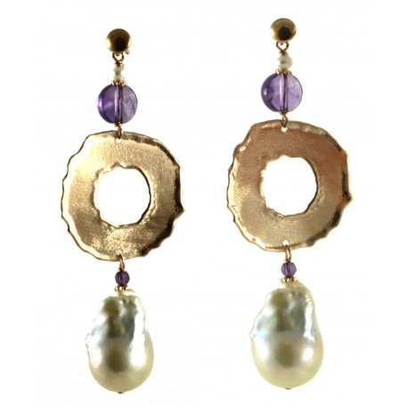 pearls baroque and couture en with garnet haute earrings
