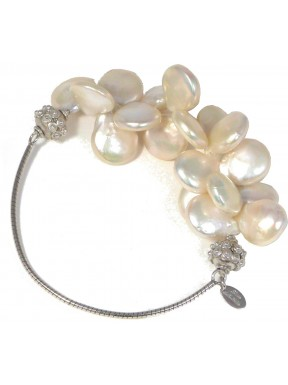 Bracelet top drill fresh water pearls