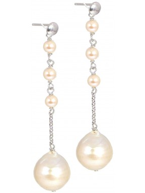 Earrings fresh water pearls